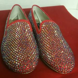 Steve Madden Pretty in Red Sequin Flats Size 9.5
